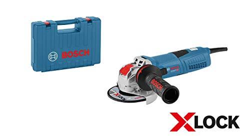 Bosch Professional Winkelschleifer GWX 13-125 S (1300 Watt, für X-Lock Zubehör, ScheibenØ: 125 mm, im Koffer) W