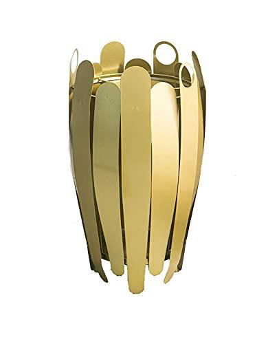 JKMINSA Paraguas Cubo De Metal, Paragüero Clubs Pasillos Restaurantes Salas De Estar Supermercados Estante De Almacenamiento De Hierro Soporte para Paraguas 45 * 75cm (Color : Gold)