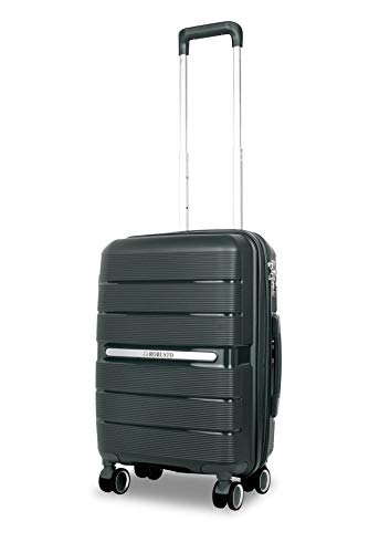 Vienna Durable Hard Shell Suitcase (Green) 20 Inch Expandable Hardside Suitcase, 55 cm, 4 Wheels, Carry On Hand Luggage with 5 Year Warranty