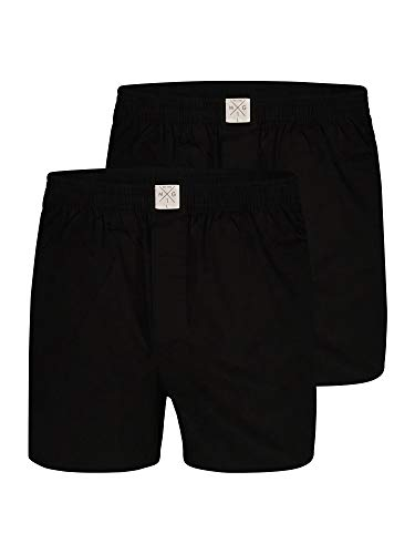 MG-1 Web-Boxershorts Uni Schwarz 2-Pack - Größe L