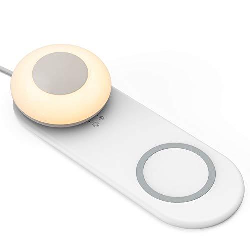 Téléphone portable multifonction Charge sans fil LED Lampe de bureau séparée magnétique Portable Touch Gradation Chambre Creative Night Light Lampe de chevet pour la chambre des enfants, Camping