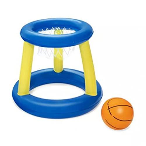 Juego de aro de baloncesto acuático Juguetes divertidos para la piscina de verano Juego de juguete de baloncesto inflable Adecuado para que padres e hijos jueguen en la piscina al aire libre.