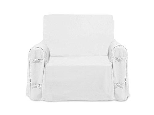 Soleil d 'Ocre Panama–Funda para sofá (algodón Panama algodón 90 x 90 X 60 ), algodón, blanco, 90 x 90 X 60