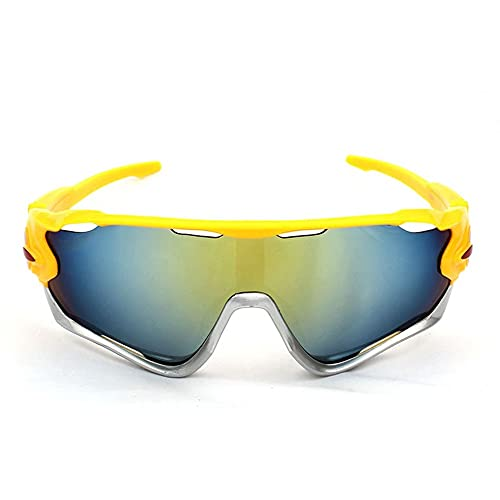 Gafas de sol polarizadas para hombres, gafas de montar al aire libre, gafas de sol de bicicletas, juego de deportes de 3 piezas, adecuado para ejercicio, accesorio cercano, cómodo, compacto y liviano