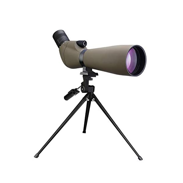 "Svbony SV401 Spotting Scope Waterproof 20-60x80 Resolution 2.9"" FMC BK7 Porro Prism Refractor Spotting Scope for Bird Watching Archery Target Shooting"