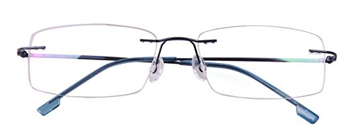 Agstum Titanium Alloy Flexible Rimless Hinged Frame Optical Eyeglasses Frames