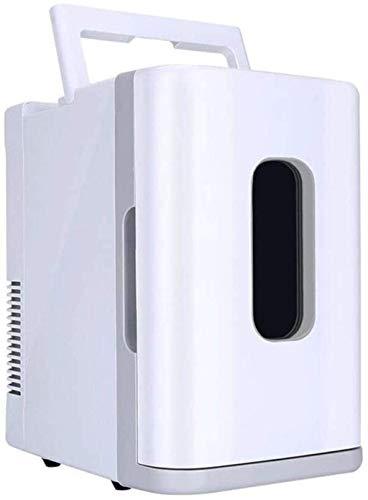 QTCD Mini refrigerador de 10 l/refrigerador de Coche de 12 V/refrigerador pequeño para el hogar de 220 V/refrigerador de Picnic