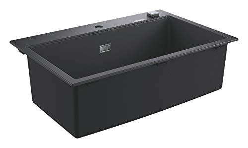 Grohe K700 - Fregadero individual y desagüe, 78 x 50 cm, Gris (Granite Black) (Ref.