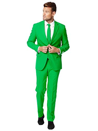OppoSuits Costume de bal de fin d'année pour enterrement de vie de jeune fille - Ensemble complet : veste, pantalon et cravate, Evergreen, 54