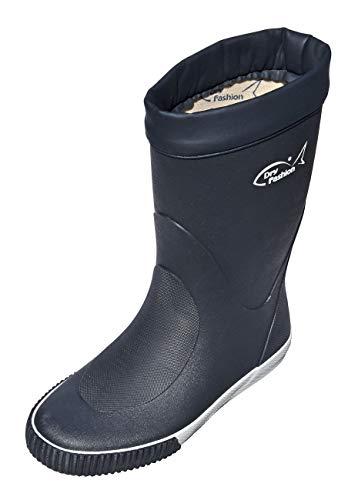 Dry Fashion Damen Herren Bootsstiefel Skipper Gummistiefel Regenstiefel Halbschaft, Größe:45 EU