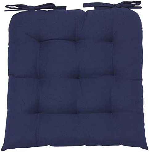Best Now Designs Renew Collection Padded Chair Cushion, Indigo Blue