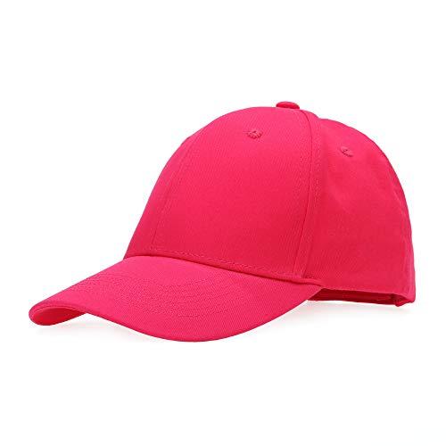 Baseballcap Unisex Käppi Cap Baseballmütze Schirmmütze Damen Herren Hip-Hop-Mütze, Einheitsgröße, Pink