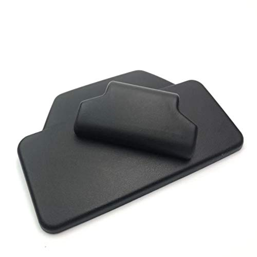 HTSM para B-enelli TRK502 TRK 502 TRK 502X TRK502 X TRK502X Respaldo De Pasajero Almohadilla Trasera Caja Trasera De Aluminio Etiqueta De Maletero Decoraciones (Color : Negro)