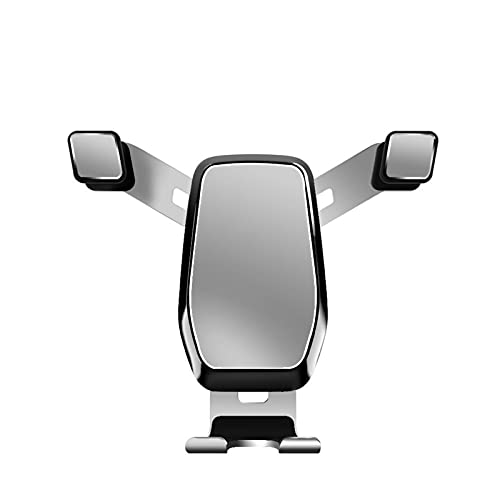 baa Soporte de teléfono de automóvil Montaje actualizado Nunca caídas Clip de Gancho Vent de Aire Air Phone Mount Undernal Teléfono Celular Soporte para Todos Smartphone Black Silver (Color : Silver)