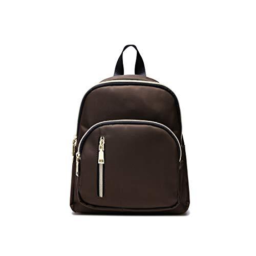 YANAIER Mini Backpack Purse for Women Girls Fashion Anti-theft Waterproof Rucksack Ladies School Bag Brown