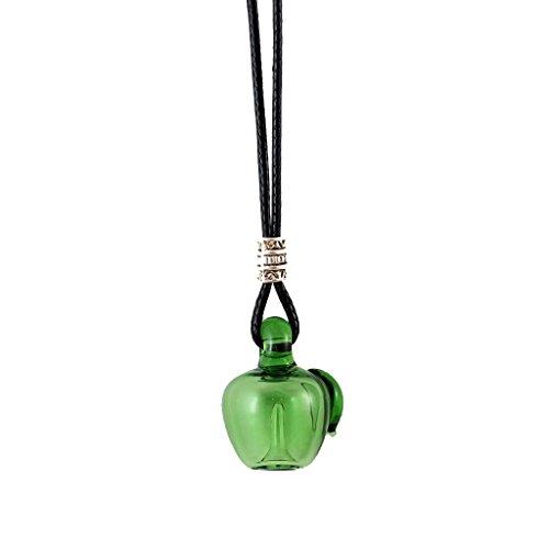IPOTCH Handgefertigte Apfel Parfüm ätherisches Öl Glas Flasche Halskette - Grün