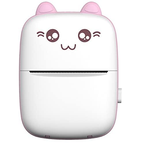 Mini impresora de bolsillo, impresora térmica inalámbrica Bluetooth, portátil Smart Photo Label Memo Receipt Paper Printer, adecuado para teléfonos móviles, rosa