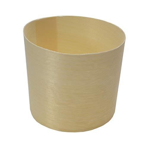 ECOFAMI bloempot van hout 6 x 6 cm - 155 ml EF534 I gemaakt van hout I gemaakt van 100% duurzame bronnen I verkrijgbaar in 4 maten I 100 stuks