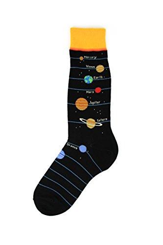 Foot Traffic, Men's Education-Themed Socks, Planets (Shoe Sizes 7-12)