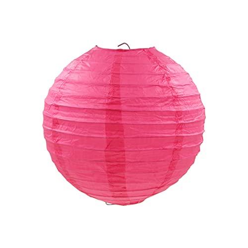 """Luces de linterna 20 PCS 6""""-12"""" Blanco Linternas Papel Pink Linternas Chino Japonés Color Color Surtido Tamaños Lampión para la fiesta de bodas Colgando DIY Decoración Para Año Nuevo, Festival de Pri"""