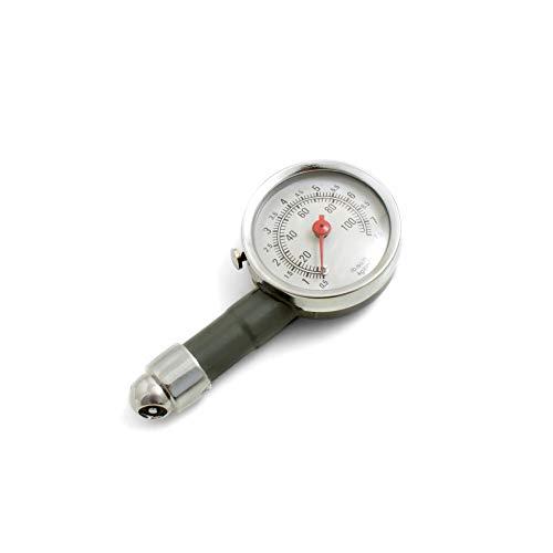 System-S Reifendruckmesser Universal Luftdruckprüfer, Drehskalenmanometer, Autoreifen