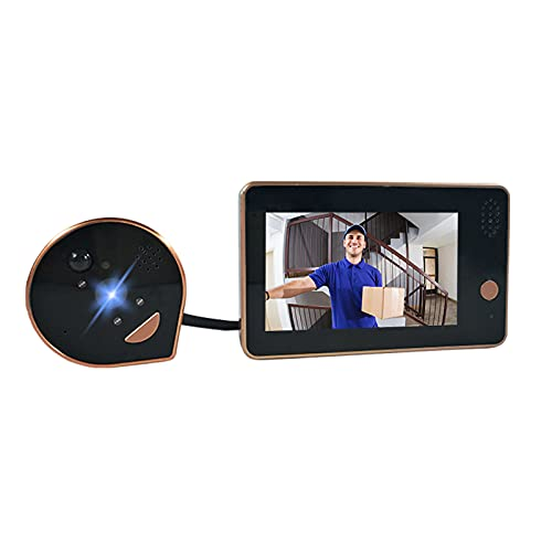 Festnight HD 1080P Mirilla Cámara de puerta Timbre de puerta Visor de puerta digital Pantalla LCD de 4.3 pulgadas Visión nocturna Toma de fotografías Conexión WiFi Wecsee APP Control para seguridad en