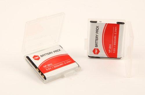 MP EXTRA - 2 x batteria NPBN1 per SONY - Ottimizzato per SONY DSC-W310, W320, W350, W380, WX5, TX5, TX9, T99, TX7