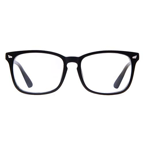 Cyxus Blaulichtfilter Brille, UV Schutzbrille gegen Kopfschmerzen, Augenmüdigkeit, Gamer Gaming Brille für PC TV Tablet Unisex Computerbrille mit transparenten Linsen für Herren Damen