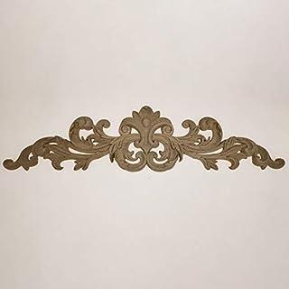 SIZOO - Statues & Sculptures - European solid wood Carved Natural Wood Applique Furniture Cabinet Unpainted Mould Applique...