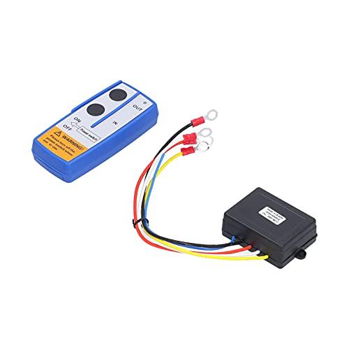 Kit de Control Remoto de cabrestante, Remolque eléctrico de volcado de batería alcalina de 150 mAh con Giro eléctrico de 12 V, Control Remoto inalámbrico para ATV