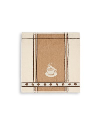 KRACHT, Frottiertuch Espresso, beige, Format 50/50, 100% Baumwolle