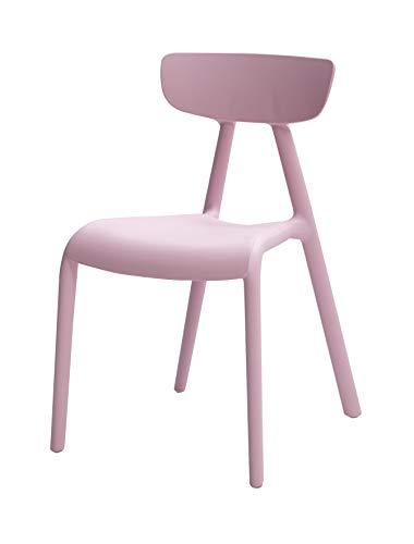 Amazon Basics sillas apilables para niños, plástico Premium, Paquete de 2