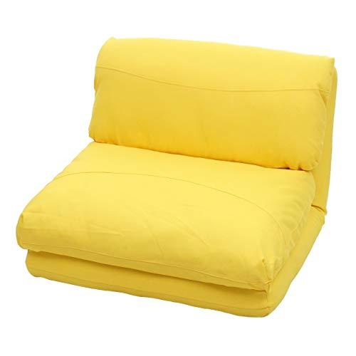 Mendler Schlafsessel HWC-E68, Schlafsofa Funktionssessel Klappsessel Relaxsessel, Stoff/Textil - gelb