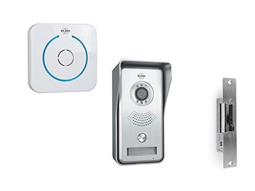 ELRO Video Sprechanlage mit Funktürklingel & Türöffner, Türkommunikation Smartphone