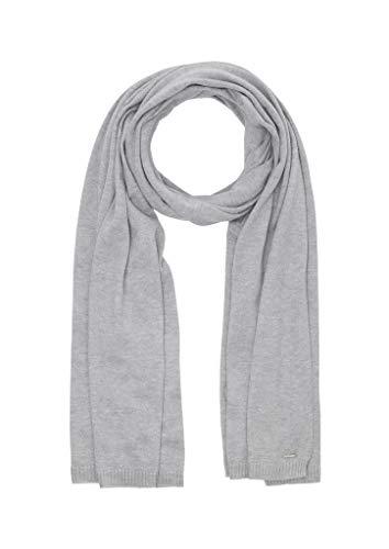 s.Oliver Damen Softer Schal aus Feinstrick grey 1