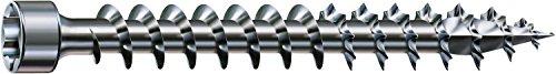 SPAX Holzbauschraube, 6,0 x 180 mm, 100 Stück, T-STAR plus, Zylinderkopf, Vollgewinde, 4CUT, WIROX A3J, 1211010601805