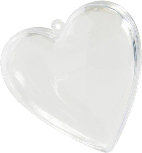 cama24com Corazón Transparente Aprox. 8 cm para Rellenar para Bodas 14 Unidades decoración con Adhesivo Palandi®