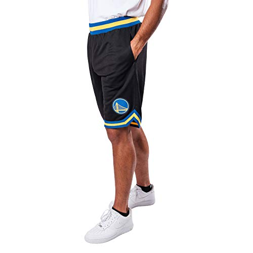 Ultra Game NBA Golden State Warriors Mens Woven Basketball Shorts, Team Color, Medium