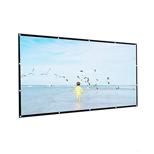WOYZDN 4: 3 Pantalla de proyector de Densidad Hight 100 120 150 Pulgadas 1080p 3D 4K HD Películas de proyección Plegables portátiles Pantalla de proyección Plegable (Size : 150 Inch)