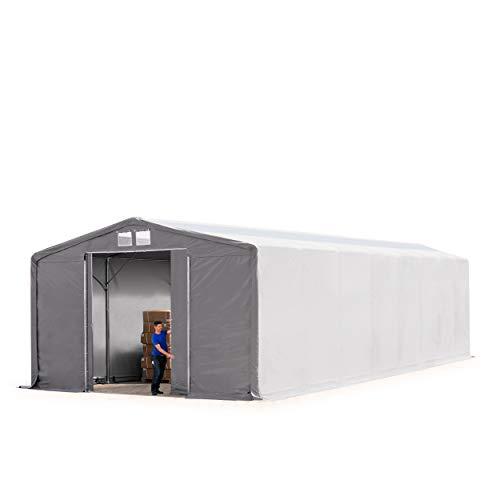 TOOLPORT Tienda de campaña con Puerta corredera – 550 g/m2 Continuo o 720 g/m2 Lona de PVC – Resistente al Agua con iluminación