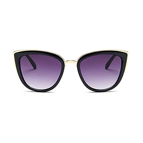 N\A Gafas de sol Vintage Black Cat Eye Gafas de sol Mujeres Triangular Cateye Damas Gafas de sol Lente Leopardo Espejo lindo