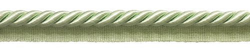 9.1 Meter Pack of Large 10mm Basic Trim Lip Cord, 0038S Color: PALE JADE GREEN G12