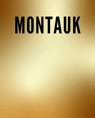 MONTAUK: A Decorative GOLD and BLACK Designer Book For Coffee Table Decor and Shelves   You Can Stylishly Stack Books Together For A Chic Modern ... Stylish Home or Office Interior Design Ideas