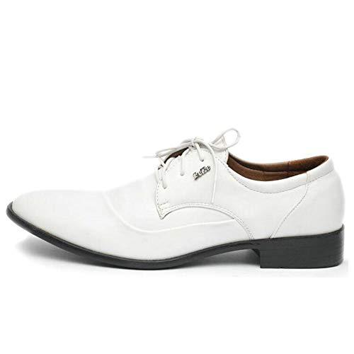 Herren Oxford Business Schuhe Schwarz Weiß Leder Lace Up Spitzen Leder Flache Hochzeitsschuhe Arbeitsschuhe