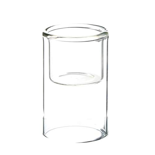 WGV Tea Light Holder Bulk, Width 2.3', Height 4', Clear Raised Cylinder Glass Votive Candle Holder, Ideal for Home Office Event Wedding Centerpieces Decor, 6 Pieces