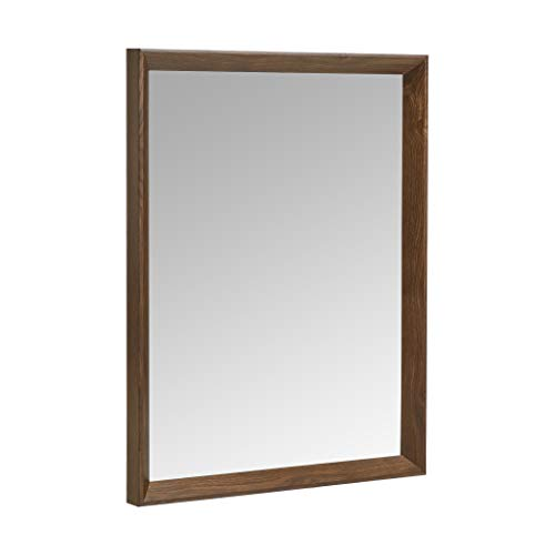 Amazon Basics Rectangular Wall Mirror 16x20' - Peaked Trim, Walnut