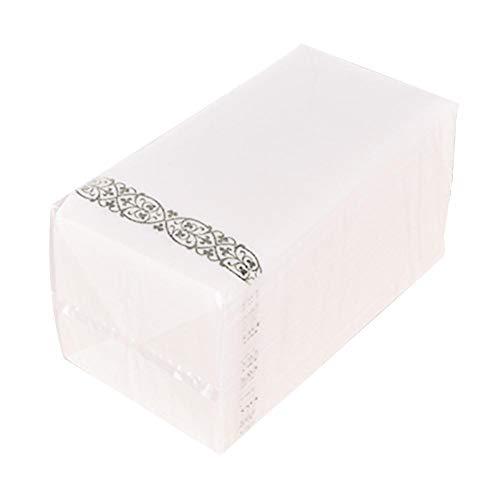 Heoolstranger papieren servet, 50/100 stuks linnen gastendoekjes handdoeken, formele avondeten, jubileum- en bruiloftsservetten voor tafels, gastenkamer en toiletten - 8,5 x 4 inch Benefit