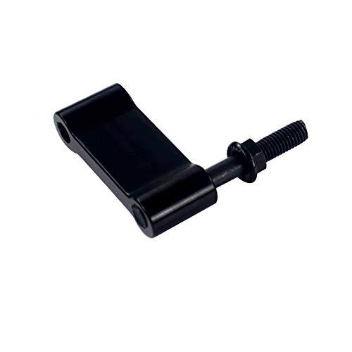 XFCNOI Aluminium M10 * 1,5 mm ASR-Art-Hundeknochen-Shifter Relocator Weiß Extender Adjustable Fit for/Acura (Farbe : Schwarz)