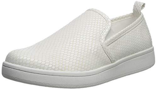 Calvin Klein Women's DEVA Sneaker, White/White, 9.5 M US