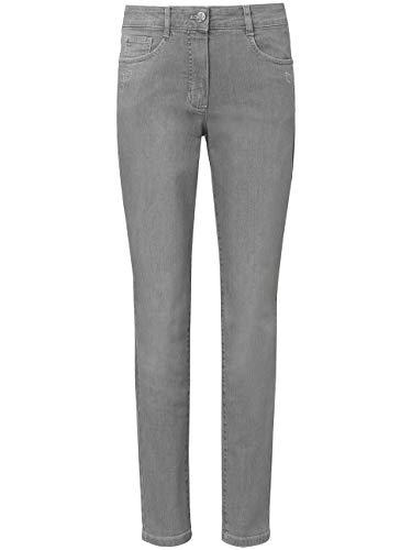 BASLER Damen Jeans mit Ziersteinen und schmalem Bein